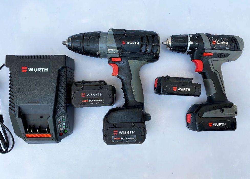 2бр. винтоверти Wurth 14.4V с 4бр. батерии