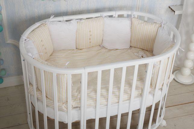 Кроватка Италия Estel 8 в 1 дерево