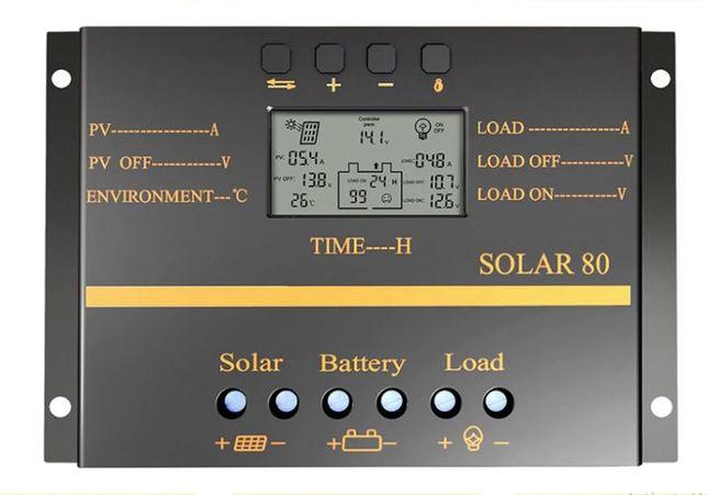 Controler solar PWM 80A/12V/24V cu USB