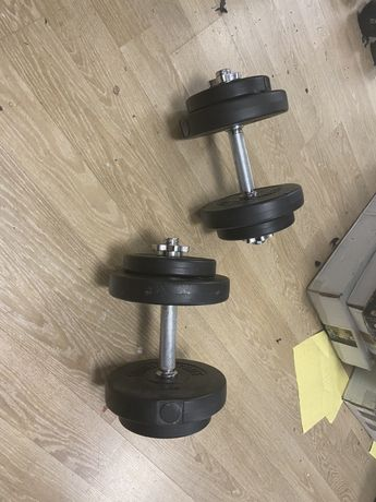 Gantere reglabile noi set de 20 kg ambele 10+10=20 kg pret promo 250