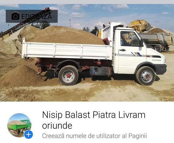 Oferta! PIATRA, BALAST, NISIP livram in Palanca, Bolintin, Poenari