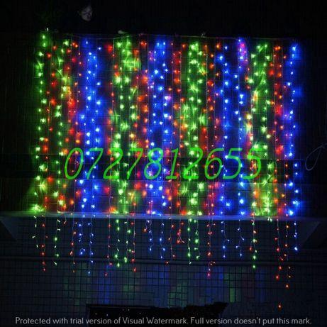 Instalatie Perdea Luminoasa 3x3m 300LED Craciun Exterior