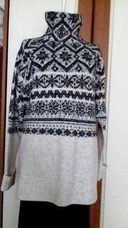 Pulover H&M,gros, alb+negru,S-M-L, Nou