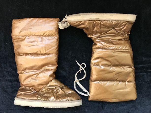 Cizme auriu patinat dama gen UGG bronz imblanite metalizate
