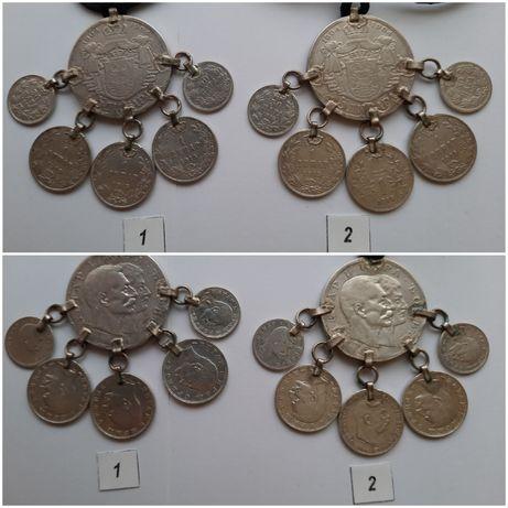7 Pandantive cu monede din argint