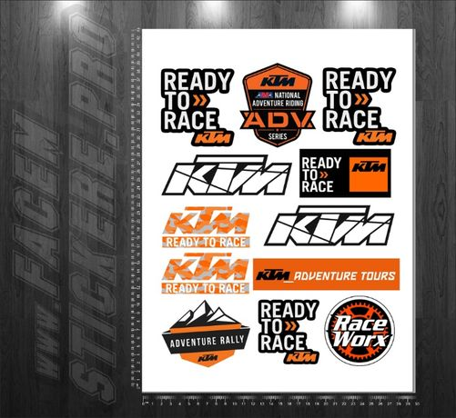 4+1 gratis Stickere Monster Ktm Honda Kawasaki Can Am Yamaha Suzuki