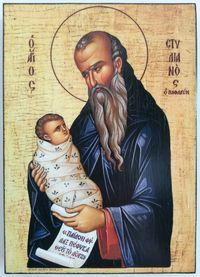 Икона на Свети Стилиян Детепазител icona Sveti Stilian Detepazitel