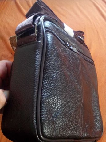 Мъжка кожена чанта от телешка кожа