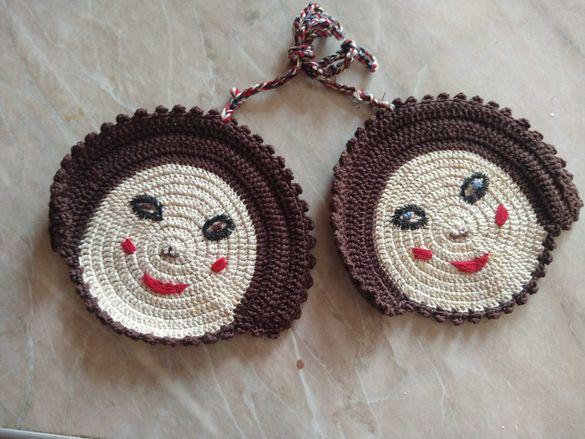 Ръчно плетени дръжки за топли домакински съдове