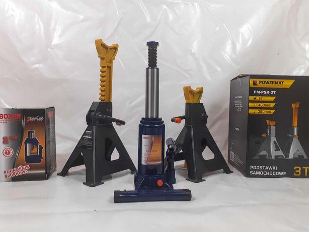 Cric hidraulic 8 Tone, 195-390mm + Set suporti auto 3 Tone 280-400mm