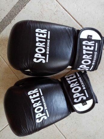 НОВИ боксови ръкавици от естествена кожа SPORTER, 10oz