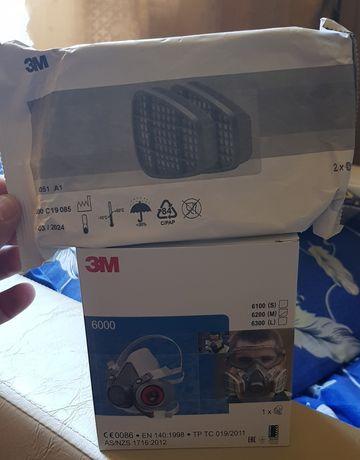 Masca de protectie 3M cu tot cu filtre incluse , praf gaze chimicale
