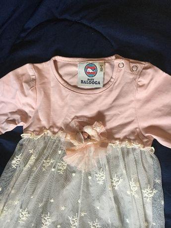 Детска Бебешка официална рокля с дантела