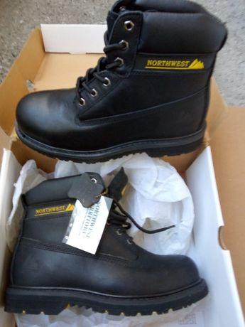 мъжки обувки за работа нови, кожа, NORTHWEST TERRITORY - N 42 черн