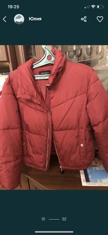 Новая демисезонная теплая зима куртка на размер 44-46