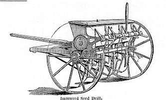 Seed drill Сеялка от времето 1740г.-1800г.