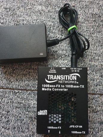 Transition Networks 100base fx to 100base-tx media converter