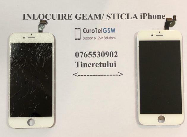 Geam/ Sticla iPhone 6, 6S, 7, 7 Plus, 8, 8 Plus, X, XS, 11 Pro, Nou!