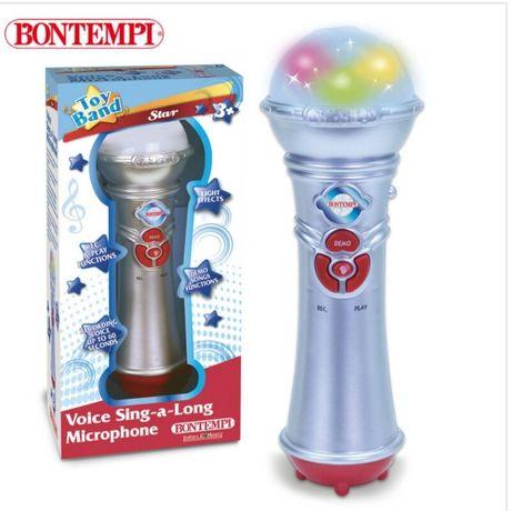 караоке микрофон със светлини Детски музикални играчки играчка