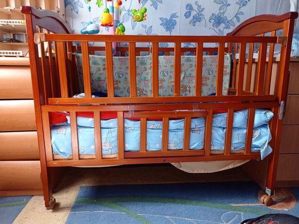 Детская кроватка и люлька 2 в 1