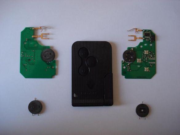 Транспортна платка за смарт карта 3 бутонна за ключ renault megane