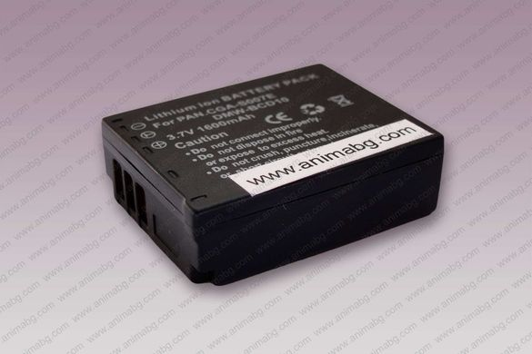 ANIMABG Батерия модел CGA-S007 / DMW-BCD10 за фотоапарати PANASONIC Lu