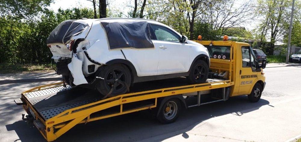 Tractari auto A1 A2 A3 - Platforma auto - transport utilaje dube xxl Bucuresti - imagine 1