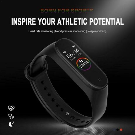 Смарт Фитнес Гривна / Часовник M4 Smart Fitnes Band