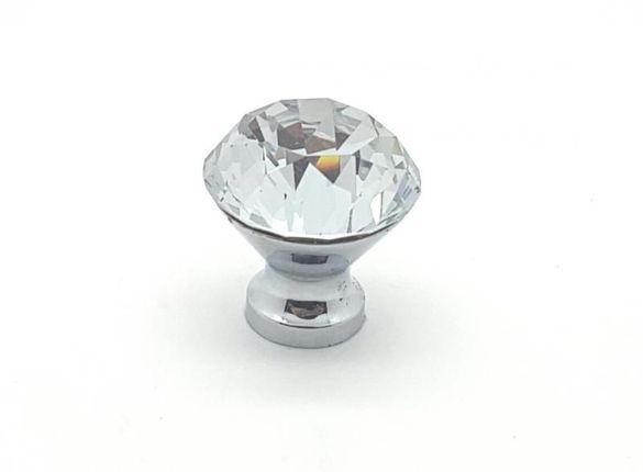 Мебелна дръжка 7440 топка - диамант