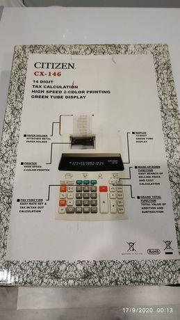 Калькулятор с печатью CITIZEN CX-146