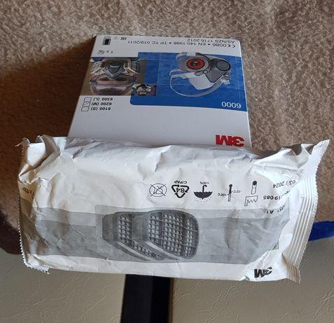 Masca de protectie 3M cu filtre incluse , filtre carbon sau rotunde p3