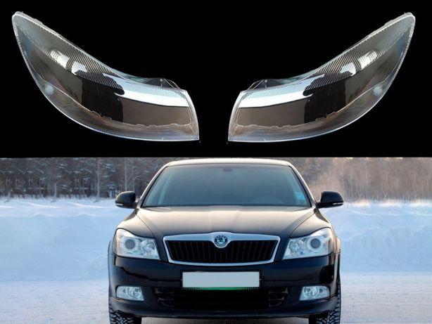 Sticla far Skoda Octavia 2 Facelift ( 2009-2013 ) Capac Geamuri