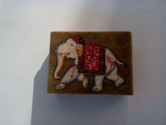 Мраморна кутия - индийска (зелен мрамор)