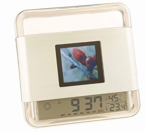 Мини цифрова рамка за снимки и графичен часовник за станция за прогноз