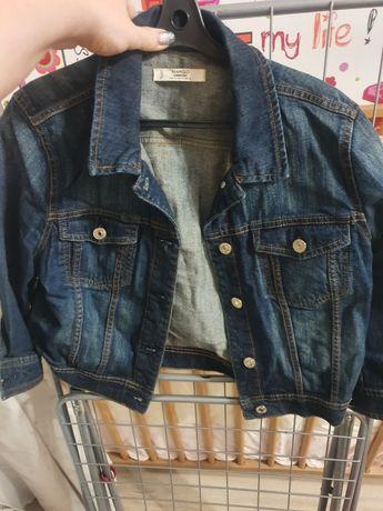 Куртка джинсовая, пиджак трикотажный