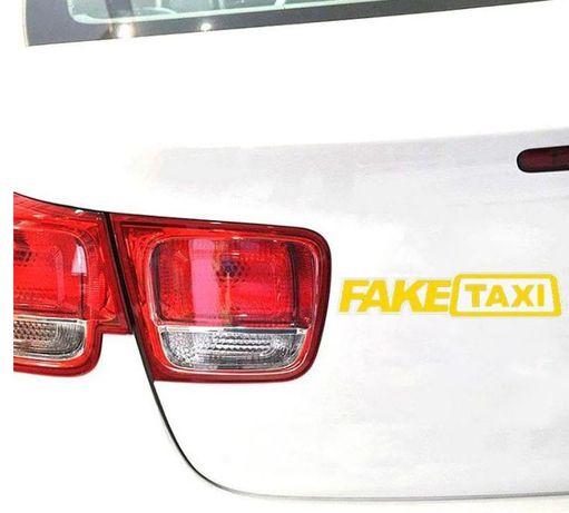 Sticker Fake Taxi 20x5 cm GLABEN
