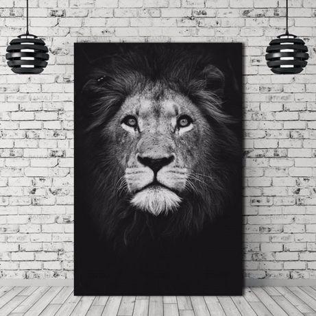 Декоративна картина върху платно с лъв различни размери