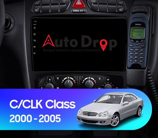 Navigatie Mercedes Benz C Class, CLK, Android 9.1, 2GB+32GB, 9Inch