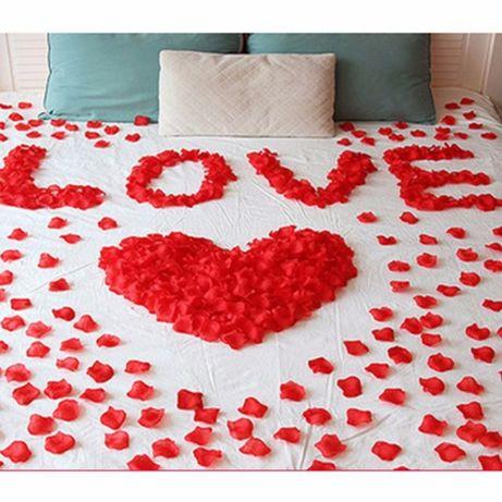 Декорация за сватба! Листа от рози 1000 , 2000 бр.
