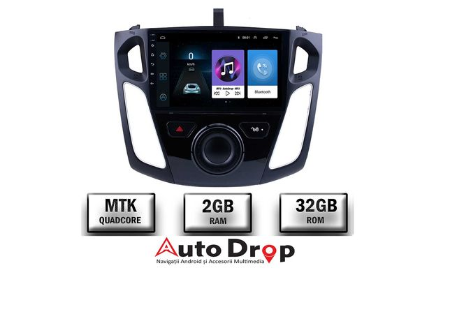 Navigatie Ford Focus 3 (2011-2019), 2GB RAM + 32GB ROM, 9 INCH