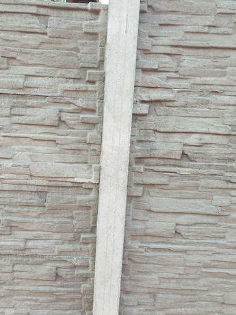 Gard de beton 15 placi 2 stâlpii