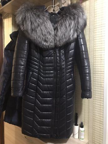 Продам зимнюю куртку из экокожи
