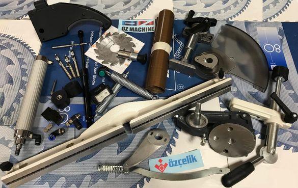 Части, консумативи за машини за дограма Ozcelik и други (ПВЦ алуминий)
