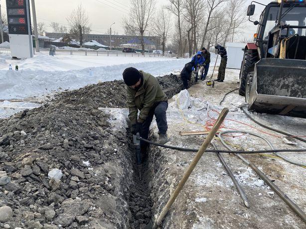 Земельные работы, ручная копка, землекопы