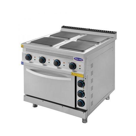 Masina de gatit electrica cu 4 plite si cuptor CLR.TC.9KE800, Ideal In