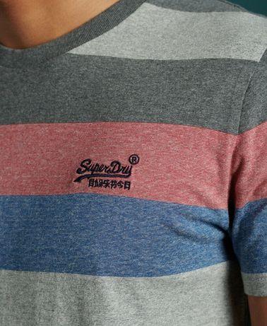 Мъжка тениска Superdry Mens Organic Cotton Hoop Stripe T-Shirt М