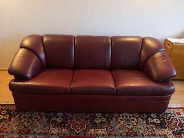 Vand set canapea 3 locuri + 2 fotolii din piele naturala - Mobexpert