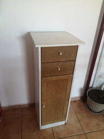 Corp lemn cu sertare și Compartiment cu usa