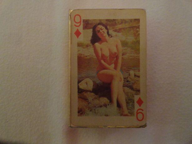 Carti de joc vintage sexy 54 modele nuduri