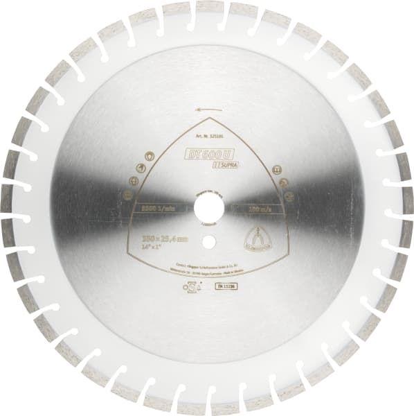 Disc diamantat segmentat 350x3x25.4 mm Klingspor Supra DT600U - 325195 Cluj-Napoca - imagine 1